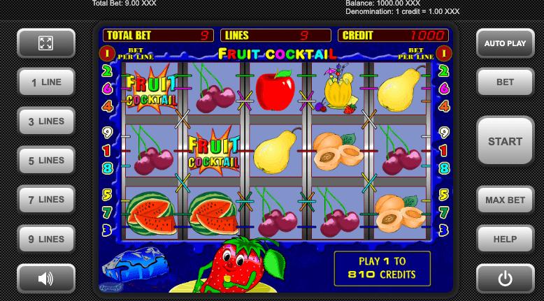 Păcănele cu fructe