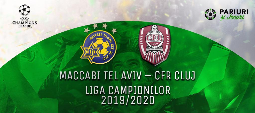 CFR Cluj vs Maccabi Tel Aviv pariuri