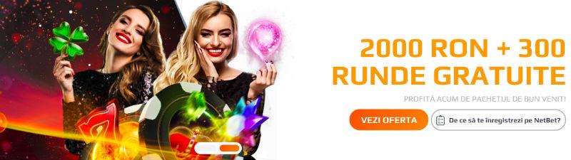 NetBet Cazino Bonus de Bun Venit