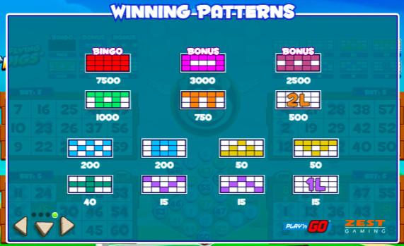 Bingo tipare câștigătoare