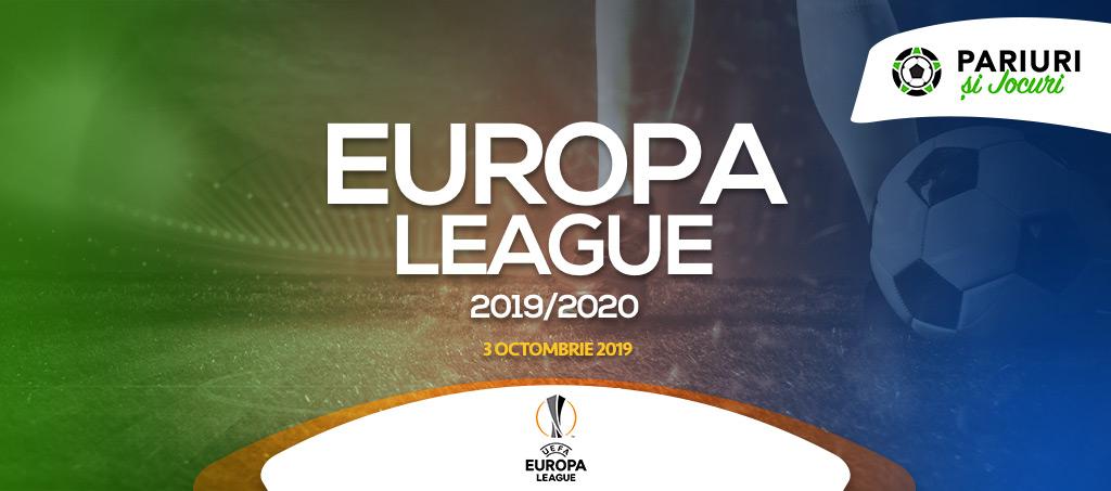 Ponturi pariuri Europa League 3.10.2019