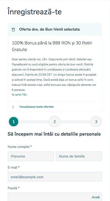 Înregistrare Vlad Cazino