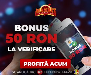 Maxbet bonus fara depunere 50 RON