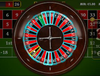 ruletă de joc de masă