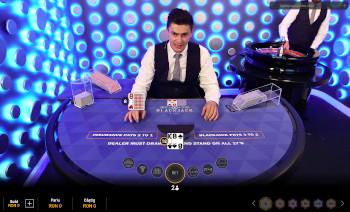 joc de masă de blackjack