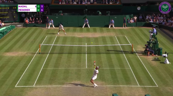 Meci de tenis - Nadal vs Federer 2019