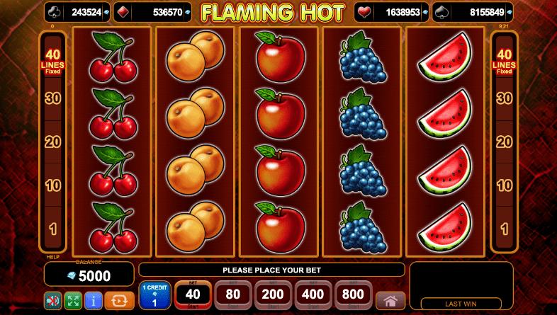 flaming hot slot